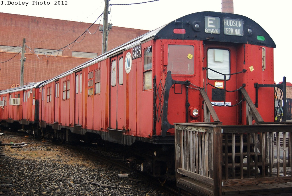 (353k, 1024x689)<br><b>Country:</b> United States<br><b>City:</b> New York<br><b>System:</b> New York City Transit<br><b>Location:</b> Coney Island Yard-Museum Yard<br><b>Car:</b> R-30 (St. Louis, 1961) 8425 <br><b>Photo by:</b> John Dooley<br><b>Date:</b> 12/8/2012<br><b>Notes:</b> School car<br><b>Viewed (this week/total):</b> 1 / 719