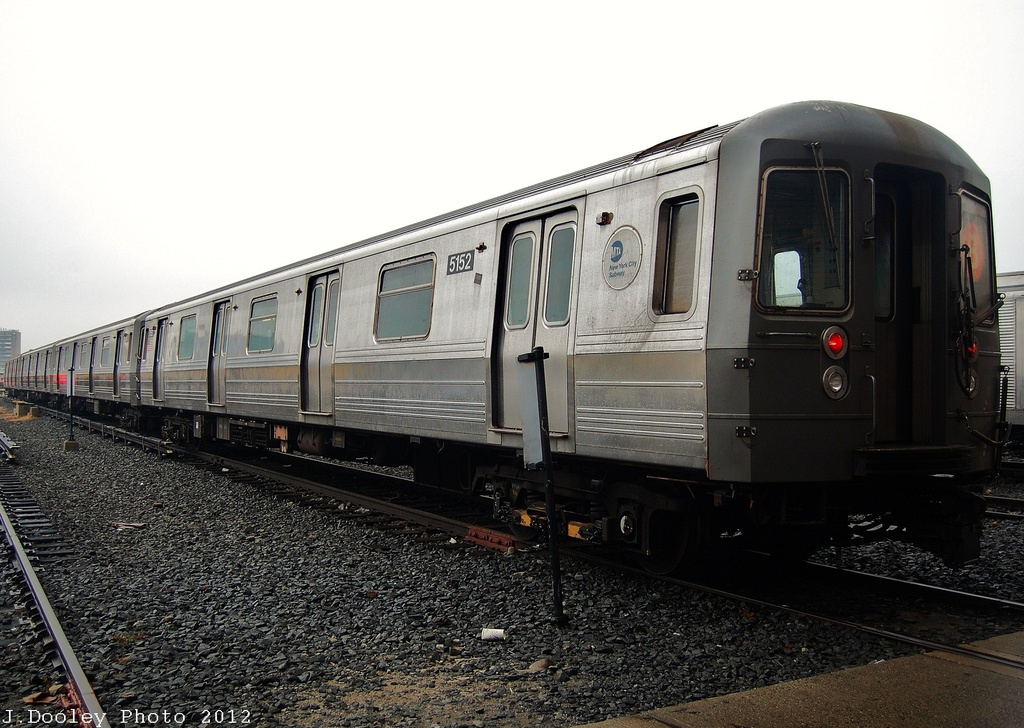 (324k, 1024x728)<br><b>Country:</b> United States<br><b>City:</b> New York<br><b>System:</b> New York City Transit<br><b>Location:</b> Coney Island Yard<br><b>Car:</b> R-68A (Kawasaki, 1988-1989)  5152 <br><b>Photo by:</b> John Dooley<br><b>Date:</b> 12/8/2012<br><b>Viewed (this week/total):</b> 2 / 277