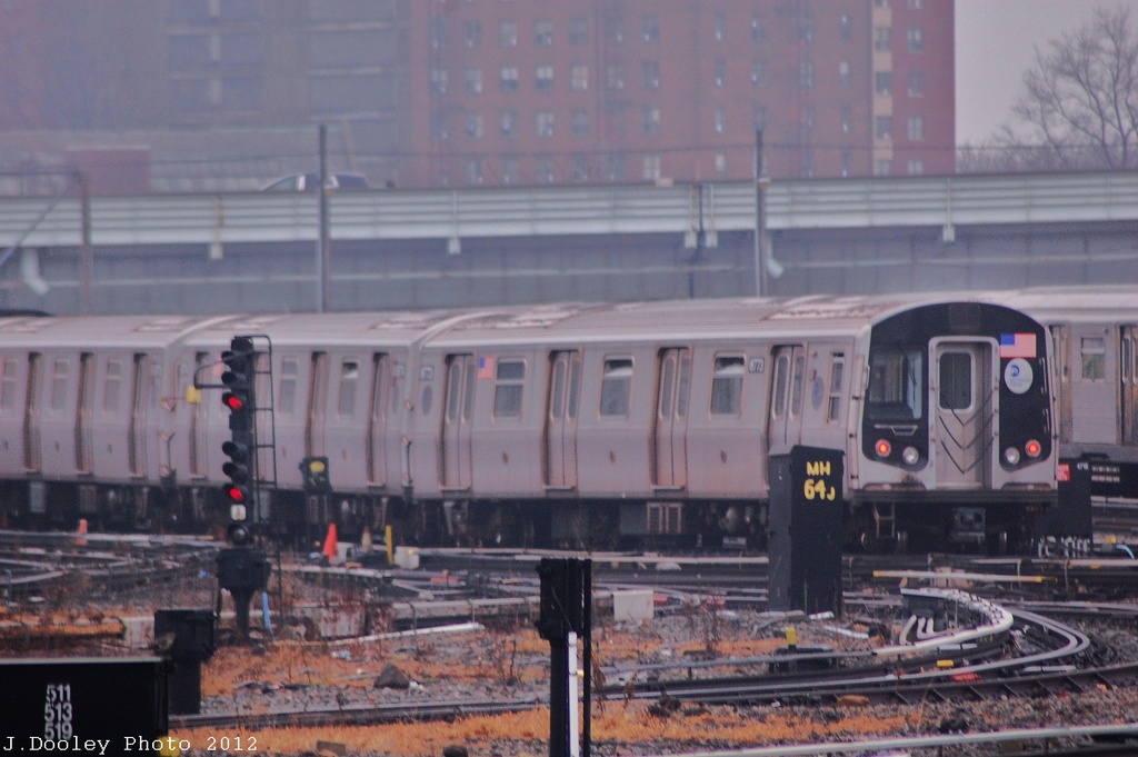 (278k, 1024x681)<br><b>Country:</b> United States<br><b>City:</b> New York<br><b>System:</b> New York City Transit<br><b>Location:</b> Coney Island Yard<br><b>Car:</b> R-160B (Kawasaki, 2005-2008)  8773 <br><b>Photo by:</b> John Dooley<br><b>Date:</b> 12/8/2012<br><b>Viewed (this week/total):</b> 1 / 253
