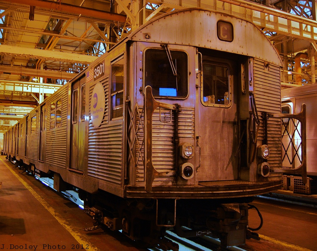 (450k, 1024x812)<br><b>Country:</b> United States<br><b>City:</b> New York<br><b>System:</b> New York City Transit<br><b>Location:</b> Coney Island Shop/Overhaul & Repair Shop<br><b>Car:</b> R-32 (Budd, 1964)  3501 <br><b>Photo by:</b> John Dooley<br><b>Date:</b> 12/8/2012<br><b>Viewed (this week/total):</b> 0 / 460