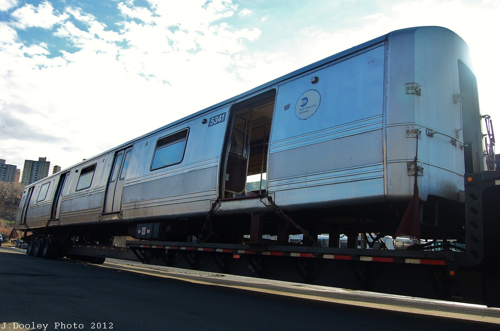 (249k, 1024x679)<br><b>Country:</b> United States<br><b>City:</b> New York<br><b>System:</b> New York City Transit<br><b>Location:</b> 207th Street Yard<br><b>Car:</b> R-44 (St. Louis, 1971-73) 5341 <br><b>Photo by:</b> John Dooley<br><b>Date:</b> 12/11/2012<br><b>Notes:</b> Scrapping<br><b>Viewed (this week/total):</b> 2 / 430