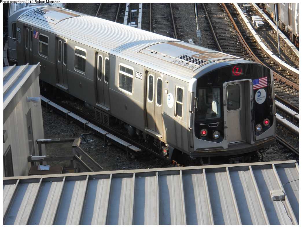 (399k, 1044x788)<br><b>Country:</b> United States<br><b>City:</b> New York<br><b>System:</b> New York City Transit<br><b>Location:</b> East New York Yard/Shops<br><b>Car:</b> R-160A-1 (Alstom, 2005-2008, 4 car sets)  8625 <br><b>Photo by:</b> Robert Mencher<br><b>Date:</b> 10/21/2012<br><b>Viewed (this week/total):</b> 0 / 166