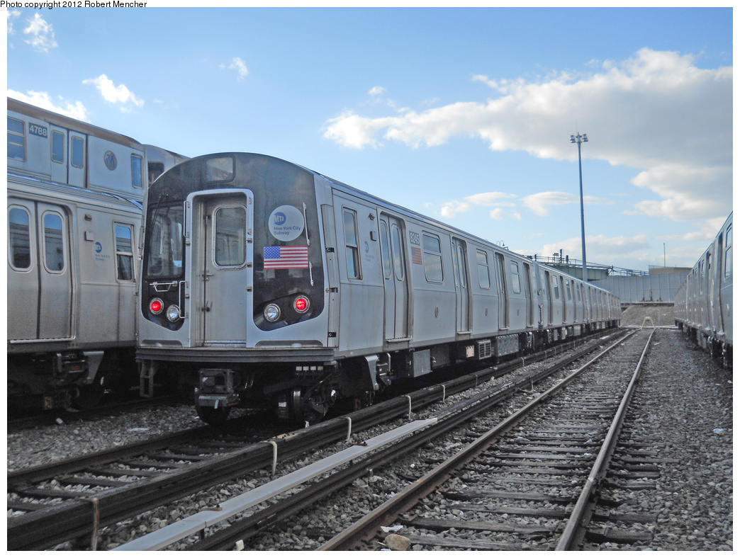 (380k, 1044x788)<br><b>Country:</b> United States<br><b>City:</b> New York<br><b>System:</b> New York City Transit<br><b>Location:</b> East New York Yard/Shops<br><b>Car:</b> R-143 (Kawasaki, 2001-2002) 8245 <br><b>Photo by:</b> Robert Mencher<br><b>Date:</b> 10/21/2012<br><b>Viewed (this week/total):</b> 0 / 138