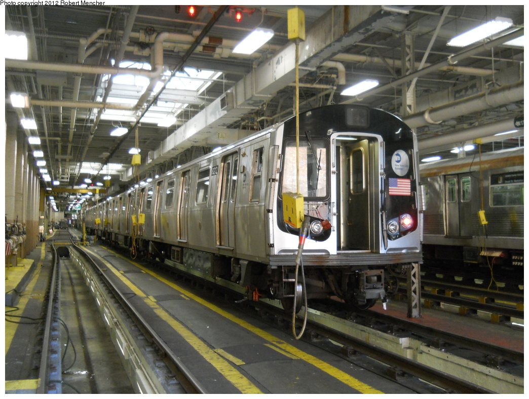 (407k, 1044x788)<br><b>Country:</b> United States<br><b>City:</b> New York<br><b>System:</b> New York City Transit<br><b>Location:</b> East New York Yard/Shops<br><b>Car:</b> R-143 (Kawasaki, 2001-2002) 8212 <br><b>Photo by:</b> Robert Mencher<br><b>Date:</b> 10/21/2012<br><b>Viewed (this week/total):</b> 0 / 493