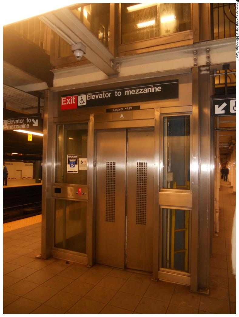 (154k, 788x1044)<br><b>Country:</b> United States<br><b>City:</b> New York<br><b>System:</b> New York City Transit<br><b>Line:</b> IND Queens Boulevard Line<br><b>Location:</b> Queens Plaza <br><b>Photo by:</b> Nicholas Noel<br><b>Date:</b> 12/16/2012<br><b>Notes:</b> Elevator to mezzanine<br><b>Viewed (this week/total):</b> 5 / 257