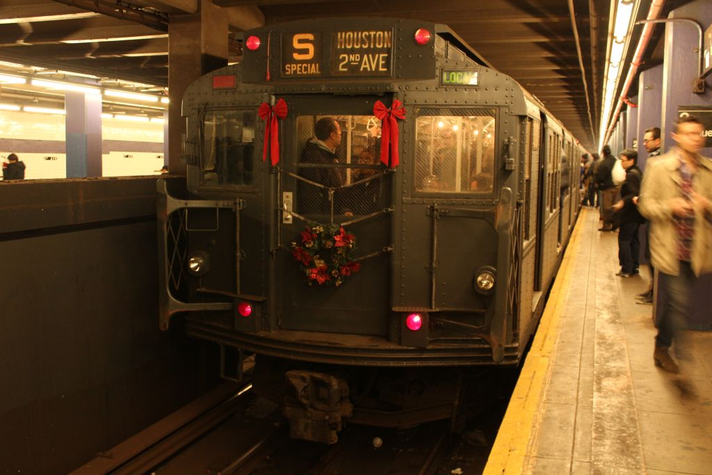 (124k, 1024x683)<br><b>Country:</b> United States<br><b>City:</b> New York<br><b>System:</b> New York City Transit<br><b>Line:</b> IND 6th Avenue Line<br><b>Location:</b> 2nd Avenue <br><b>Route:</b> Museum Train Service<br><b>Car:</b> R-6-1 (Pressed Steel, 1936)  1300 <br><b>Photo by:</b> Neil Feldman<br><b>Date:</b> 12/16/2012<br><b>Viewed (this week/total):</b> 4 / 313