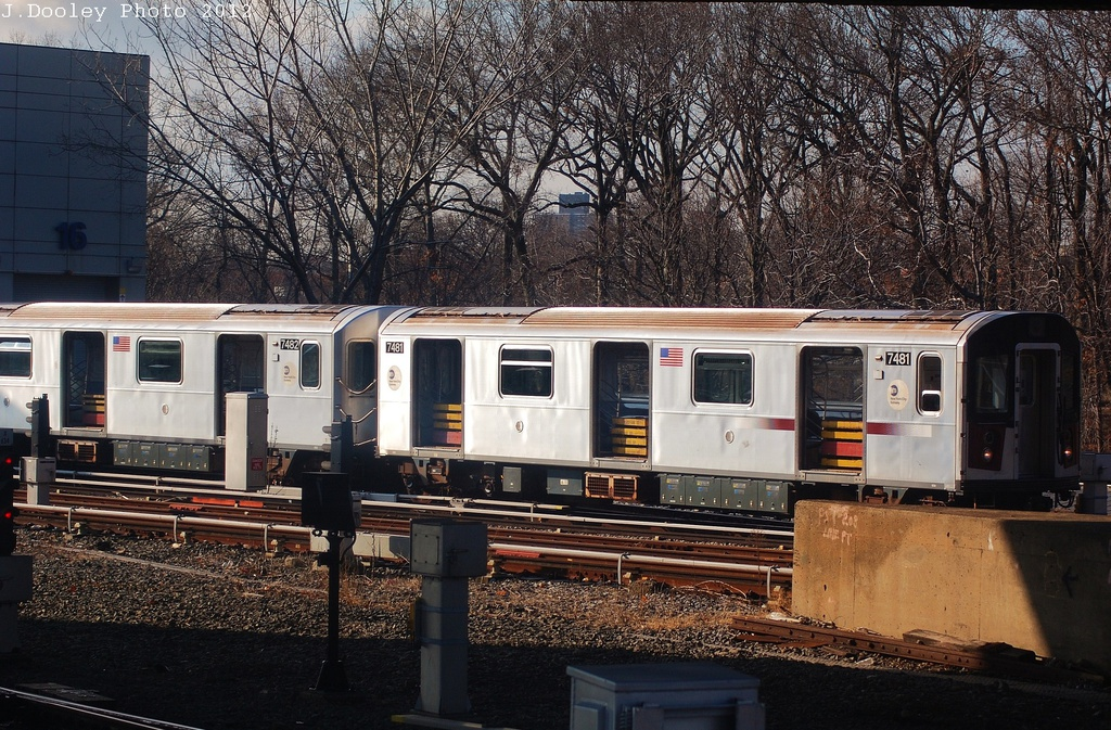 (424k, 1024x673)<br><b>Country:</b> United States<br><b>City:</b> New York<br><b>System:</b> New York City Transit<br><b>Location:</b> East 180th Street Yard<br><b>Car:</b> R-142A (Primary Order, Kawasaki, 1999-2002)  7481 <br><b>Photo by:</b> John Dooley<br><b>Date:</b> 12/18/2012<br><b>Viewed (this week/total):</b> 2 / 504
