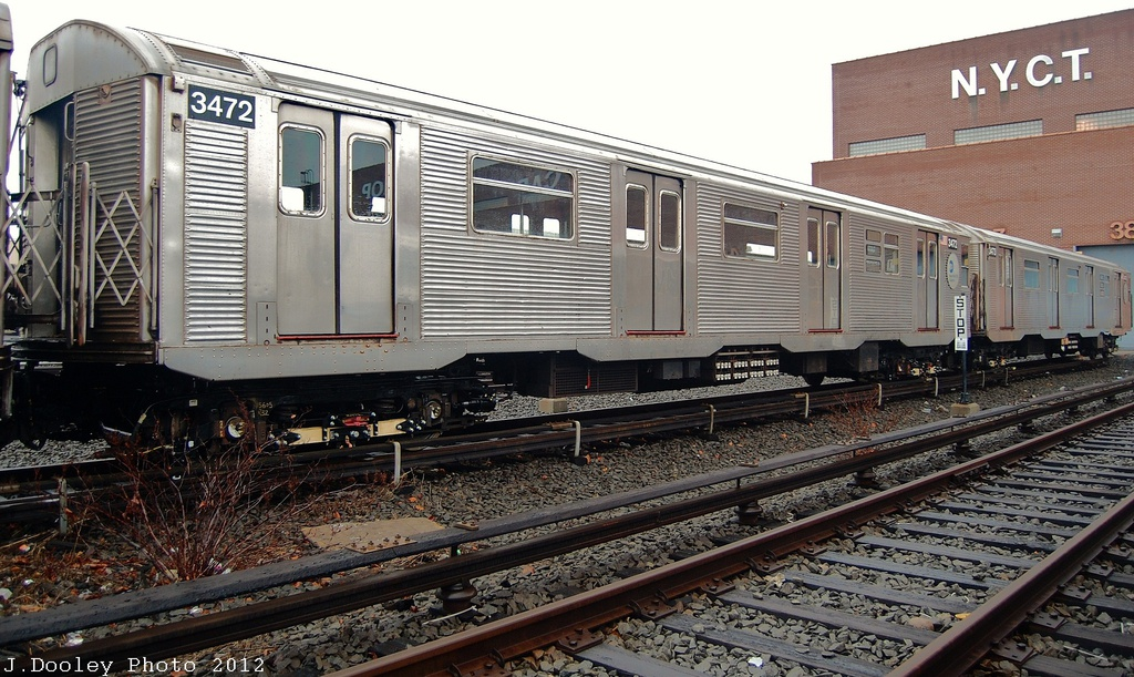 (357k, 1024x611)<br><b>Country:</b> United States<br><b>City:</b> New York<br><b>System:</b> New York City Transit<br><b>Location:</b> Coney Island Yard<br><b>Car:</b> R-32 (Budd, 1964)  3472 <br><b>Photo by:</b> John Dooley<br><b>Date:</b> 12/8/2012<br><b>Viewed (this week/total):</b> 1 / 389