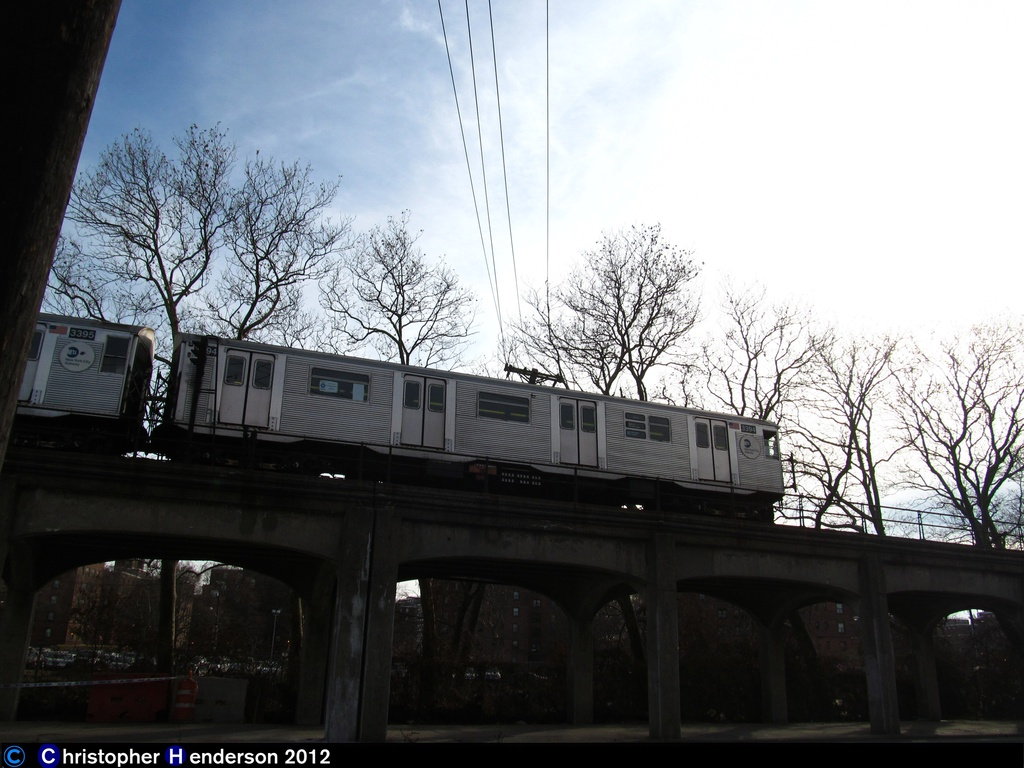 (250k, 1024x768)<br><b>Country:</b> United States<br><b>City:</b> New York<br><b>System:</b> New York City Transit<br><b>Line:</b> IND Rockaway<br><b>Location:</b> Hammels Wye <br><b>Route:</b> H<br><b>Car:</b> R-32 (Budd, 1964)  3394 <br><b>Photo by:</b> Christopher Henderson<br><b>Date:</b> 11/20/2012<br><b>Notes:</b> First day of H service in Rockaways post-Sandy<br><b>Viewed (this week/total):</b> 4 / 740