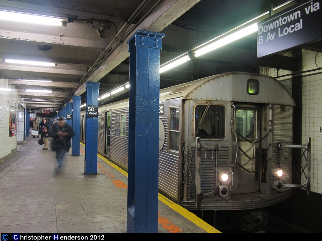 (263k, 1024x768)<br><b>Country:</b> United States<br><b>City:</b> New York<br><b>System:</b> New York City Transit<br><b>Line:</b> IND Queens Boulevard Line<br><b>Location:</b> 50th Street <br><b>Route:</b> C<br><b>Car:</b> R-32 (Budd, 1964)  3780 <br><b>Photo by:</b> Christopher Henderson<br><b>Date:</b> 12/16/2012<br><b>Viewed (this week/total):</b> 4 / 453