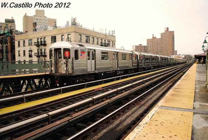 (123k, 724x486)<br><b>Country:</b> United States<br><b>City:</b> New York<br><b>System:</b> New York City Transit<br><b>Line:</b> IRT West Side Line<br><b>Location:</b> 125th Street <br><b>Route:</b> 1<br><b>Car:</b> R-62A (Bombardier, 1984-1987)  2275 <br><b>Photo by:</b> Wilfredo Castillo<br><b>Date:</b> 10/27/2012<br><b>Viewed (this week/total):</b> 2 / 970