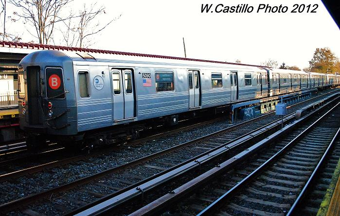 (124k, 699x445)<br><b>Country:</b> United States<br><b>City:</b> New York<br><b>System:</b> New York City Transit<br><b>Line:</b> BMT Brighton Line<br><b>Location:</b> Avenue U <br><b>Route:</b> Layup<br><b>Car:</b> R-68A (Kawasaki, 1988-1989)  5090 <br><b>Photo by:</b> Wilfredo Castillo<br><b>Date:</b> 11/11/2012<br><b>Viewed (this week/total):</b> 1 / 238