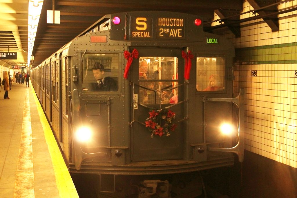 (127k, 1024x683)<br><b>Country:</b> United States<br><b>City:</b> New York<br><b>System:</b> New York City Transit<br><b>Line:</b> IND 6th Avenue Line<br><b>Location:</b> 23rd Street <br><b>Route:</b> Museum Train Service<br><b>Car:</b> R-6-1 (Pressed Steel, 1936)  1300 <br><b>Photo by:</b> Neil Feldman<br><b>Date:</b> 12/16/2012<br><b>Viewed (this week/total):</b> 2 / 441