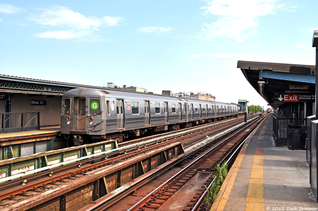 (399k, 1024x680)<br><b>Country:</b> United States<br><b>City:</b> New York<br><b>System:</b> New York City Transit<br><b>Line:</b> BMT Culver Line<br><b>Location:</b> Ditmas Avenue <br><b>Route:</b> G Relay<br><b>Car:</b> R-68A (Kawasaki, 1988-1989)  5108 <br><b>Photo by:</b> Zach Summer<br><b>Date:</b> 6/30/2012<br><b>Viewed (this week/total):</b> 3 / 466