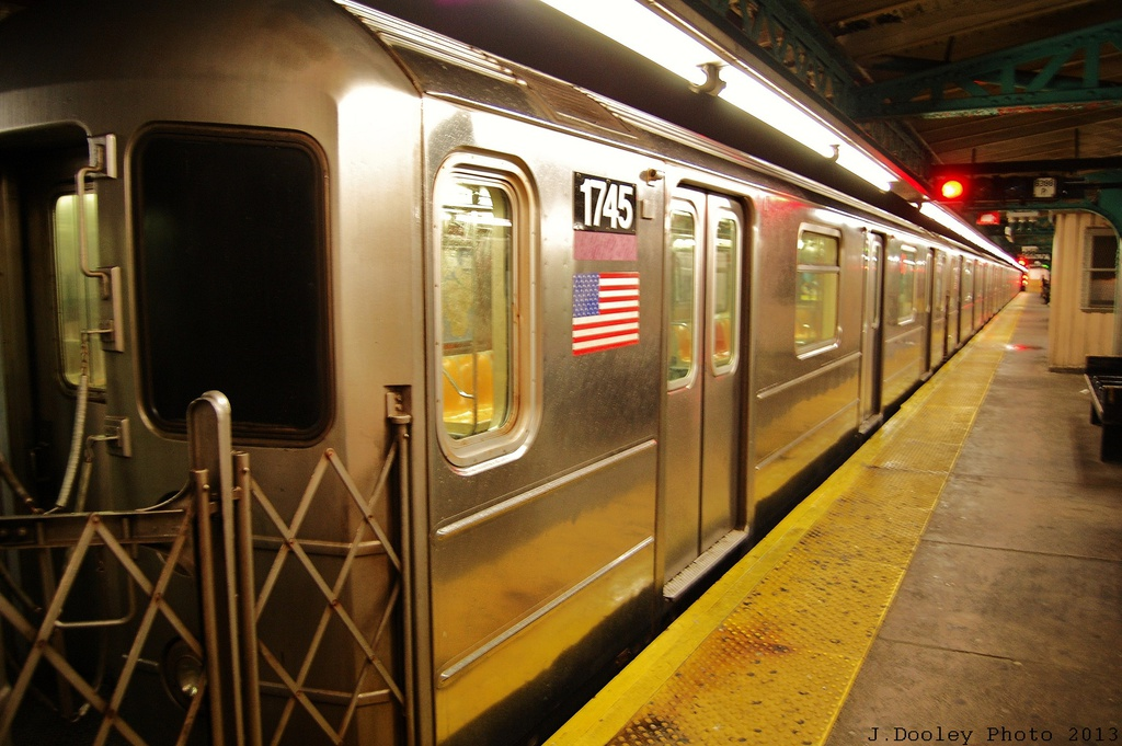(305k, 1024x681)<br><b>Country:</b> United States<br><b>City:</b> New York<br><b>System:</b> New York City Transit<br><b>Line:</b> IRT Pelham Line<br><b>Location:</b> Pelham Bay Park <br><b>Route:</b> 6<br><b>Car:</b> R-62A (Bombardier, 1984-1987)  1745 <br><b>Photo by:</b> John Dooley<br><b>Date:</b> 1/11/2013<br><b>Viewed (this week/total):</b> 4 / 448