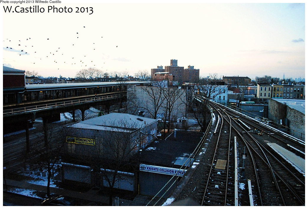 (324k, 1044x707)<br><b>Country:</b> United States<br><b>City:</b> New York<br><b>System:</b> New York City Transit<br><b>Location:</b> East New York Yard/Shops<br><b>Photo by:</b> Wilfredo Castillo<br><b>Date:</b> 2/3/2013<br><b>Notes:</b> Yard lead<br><b>Viewed (this week/total):</b> 0 / 337