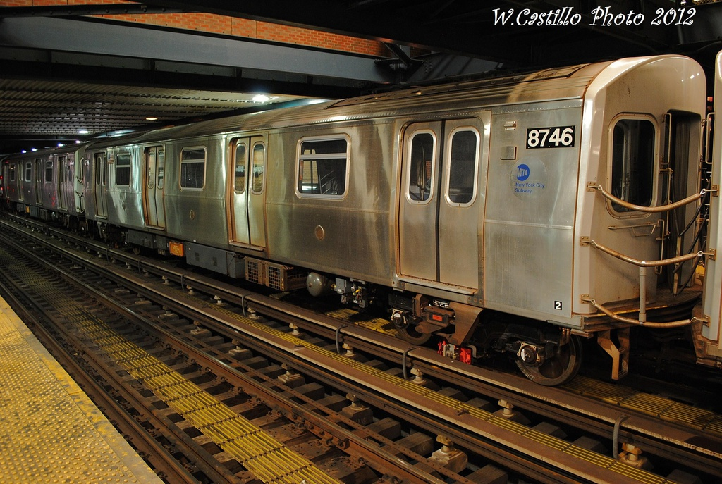 (366k, 1024x687)<br><b>Country:</b> United States<br><b>City:</b> New York<br><b>System:</b> New York City Transit<br><b>Location:</b> Coney Island/Stillwell Avenue<br><b>Car:</b> R-160B (Kawasaki, 2005-2008)  8746 <br><b>Photo by:</b> Wilfredo Castillo<br><b>Date:</b> 11/8/2012<br><b>Viewed (this week/total):</b> 3 / 290