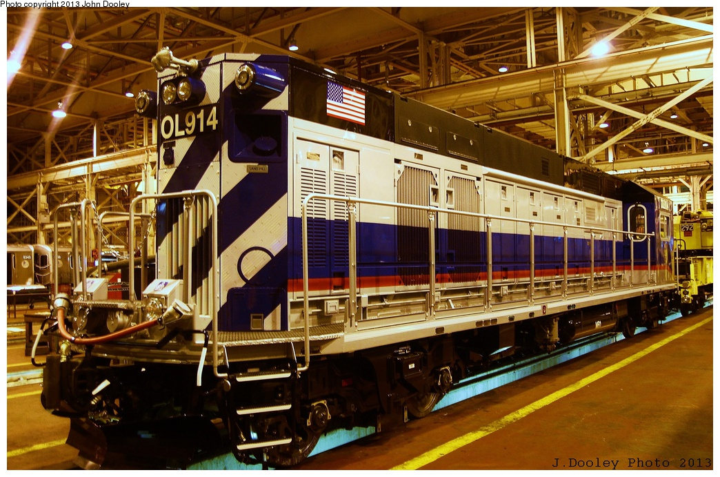 (399k, 1044x691)<br><b>Country:</b> United States<br><b>City:</b> New York<br><b>System:</b> New York City Transit<br><b>Location:</b> Coney Island Shop/Overhaul & Repair Shop<br><b>Car:</b> R-156 Diesel-Electric Locomotive (MPI, 2012-2013) 914 <br><b>Photo by:</b> John Dooley<br><b>Date:</b> 3/24/2013<br><b>Viewed (this week/total):</b> 0 / 716