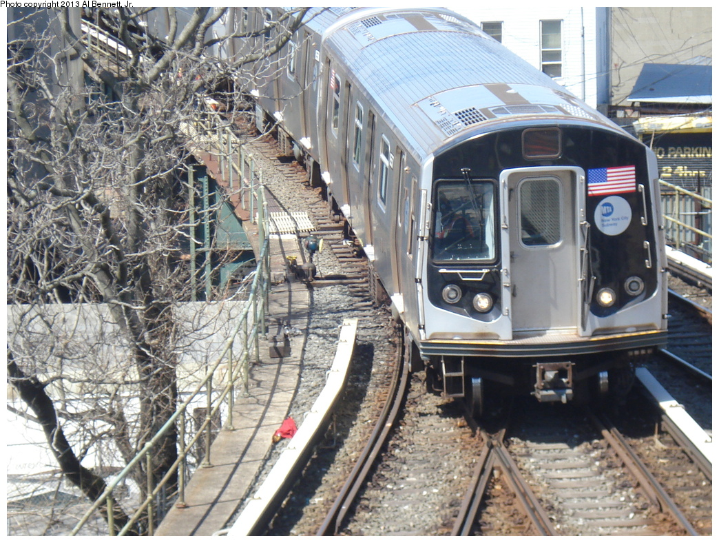 (449k, 1044x788)<br><b>Country:</b> United States<br><b>City:</b> New York<br><b>System:</b> New York City Transit<br><b>Location:</b> East New York Yard/Shops<br><b>Car:</b> R-160A-2 (Alstom, 2005-2008, 5 car sets)  8657 <br><b>Photo by:</b> Al Bennett, Jr.<br><b>Date:</b> 4/3/2013<br><b>Viewed (this week/total):</b> 1 / 541