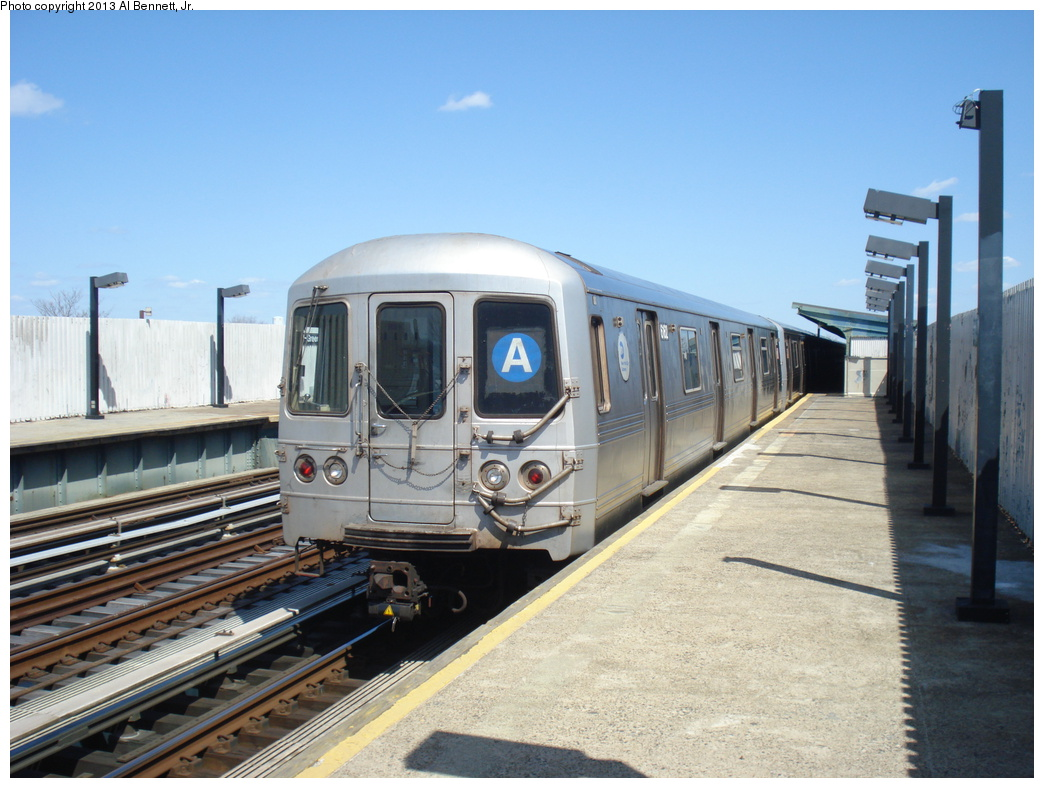 (317k, 1044x788)<br><b>Country:</b> United States<br><b>City:</b> New York<br><b>System:</b> New York City Transit<br><b>Line:</b> IND Fulton Street Line<br><b>Location:</b> 111th Street/Greenwood Avenue <br><b>Route:</b> A<br><b>Car:</b> R-46 (Pullman-Standard, 1974-75) 6162 <br><b>Photo by:</b> Al Bennett, Jr.<br><b>Date:</b> 4/3/2013<br><b>Viewed (this week/total):</b> 0 / 134