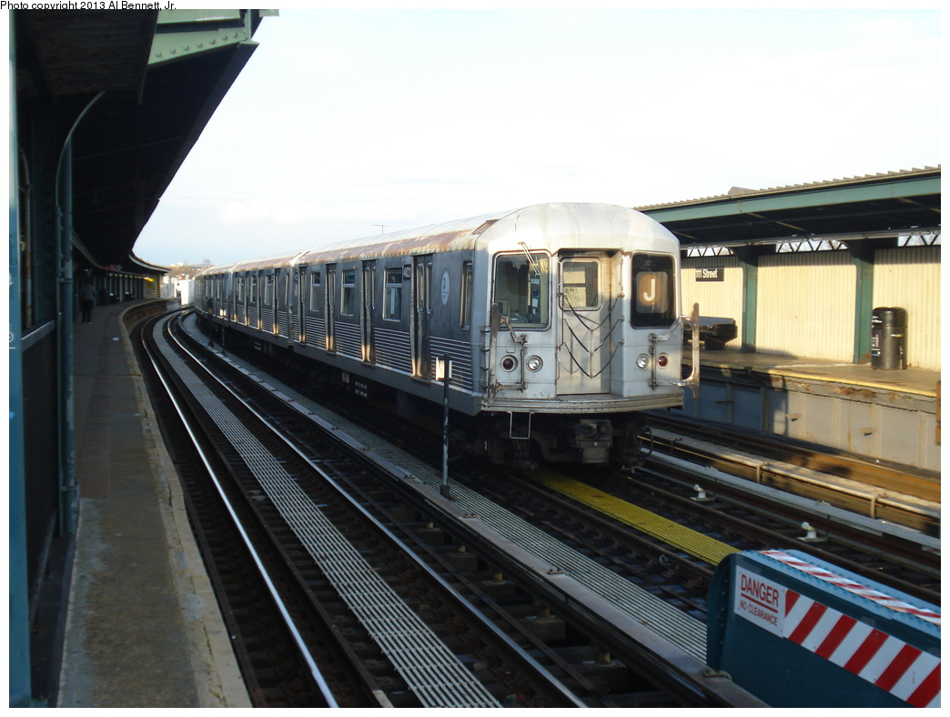 (293k, 1044x788)<br><b>Country:</b> United States<br><b>City:</b> New York<br><b>System:</b> New York City Transit<br><b>Line:</b> BMT Nassau Street/Jamaica Line<br><b>Location:</b> 111th Street <br><b>Route:</b> J layup<br><b>Car:</b> R-42 (St. Louis, 1969-1970)  4821 <br><b>Photo by:</b> Al Bennett, Jr.<br><b>Date:</b> 4/1/2013<br><b>Viewed (this week/total):</b> 0 / 244