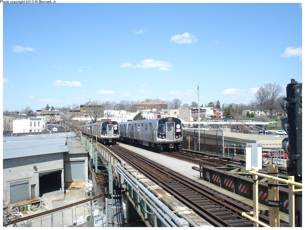 (363k, 1044x788)<br><b>Country:</b> United States<br><b>City:</b> New York<br><b>System:</b> New York City Transit<br><b>Line:</b> BMT Canarsie Line<br><b>Location:</b> Broadway Junction <br><b>Route:</b> L<br><b>Car:</b> R-160A-1 (Alstom, 2005-2008, 4 car sets)  8317 <br><b>Photo by:</b> Al Bennett, Jr.<br><b>Date:</b> 4/3/2013<br><b>Viewed (this week/total):</b> 1 / 691