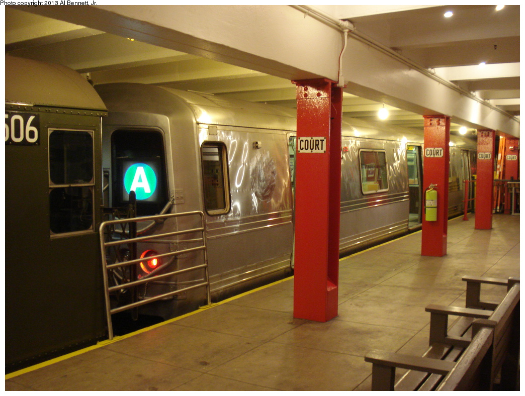 (324k, 1044x788)<br><b>Country:</b> United States<br><b>City:</b> New York<br><b>System:</b> New York City Transit<br><b>Location:</b> New York Transit Museum<br><b>Car:</b> R-44 (St. Louis, 1971-73) 5240 <br><b>Photo by:</b> Al Bennett, Jr.<br><b>Date:</b> 4/4/2013<br><b>Viewed (this week/total):</b> 3 / 1289