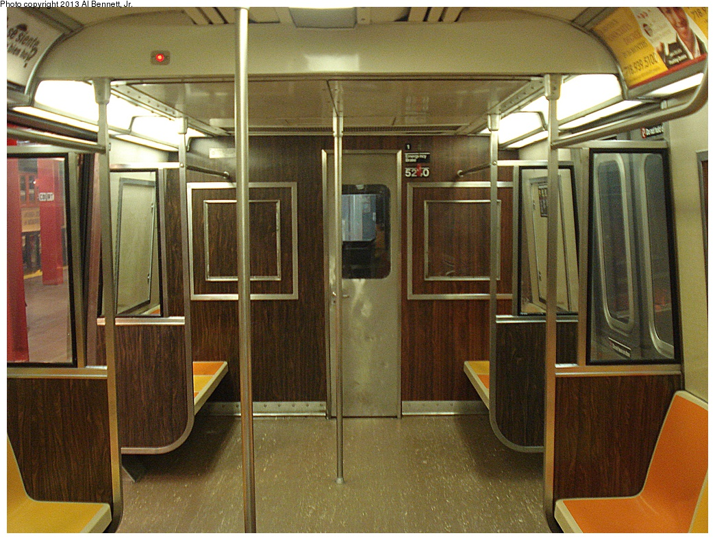 (394k, 1044x788)<br><b>Country:</b> United States<br><b>City:</b> New York<br><b>System:</b> New York City Transit<br><b>Location:</b> New York Transit Museum<br><b>Car:</b> R-44 (St. Louis, 1971-73) 5240 <br><b>Photo by:</b> Al Bennett, Jr.<br><b>Date:</b> 4/4/2013<br><b>Viewed (this week/total):</b> 4 / 835