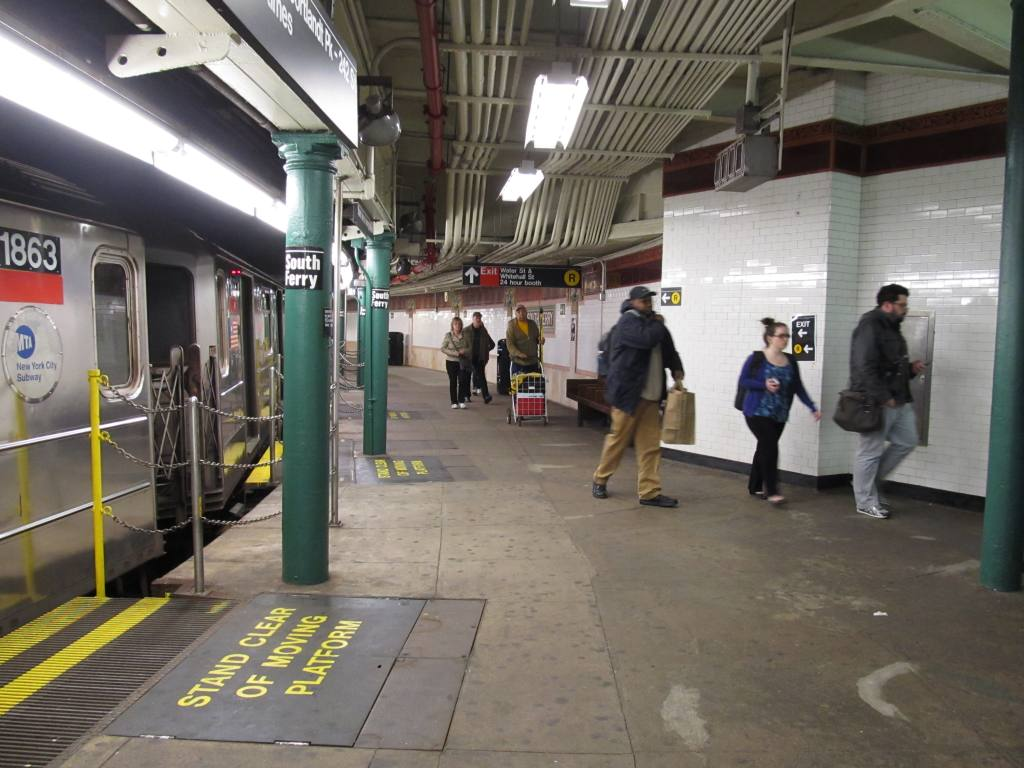(117k, 1024x768)<br><b>Country:</b> United States<br><b>City:</b> New York<br><b>System:</b> New York City Transit<br><b>Line:</b> IRT West Side Line<br><b>Location:</b> South Ferry (Outer Loop Station) <br><b>Photo by:</b> Robbie Rosenfeld<br><b>Date:</b> 4/24/2013<br><b>Viewed (this week/total):</b> 0 / 717
