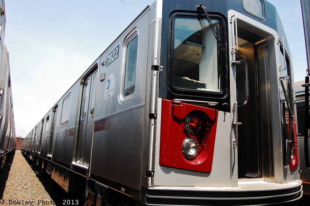 (337k, 1024x681)<br><b>Country:</b> United States<br><b>City:</b> New York<br><b>System:</b> New York City Transit<br><b>Location:</b> Coney Island Yard<br><b>Car:</b> R-188 (Kawasaki, 2012-) 7822 <br><b>Photo by:</b> John Dooley<br><b>Date:</b> 6/22/2013<br><b>Viewed (this week/total):</b> 1 / 1254