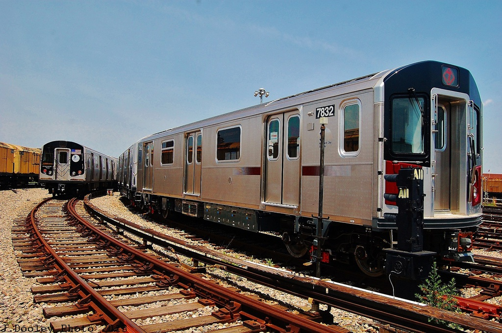 (395k, 1024x680)<br><b>Country:</b> United States<br><b>City:</b> New York<br><b>System:</b> New York City Transit<br><b>Location:</b> Coney Island Yard<br><b>Car:</b> R-188 (Kawasaki, 2012-) 7832 <br><b>Photo by:</b> John Dooley<br><b>Date:</b> 6/22/2013<br><b>Viewed (this week/total):</b> 0 / 953