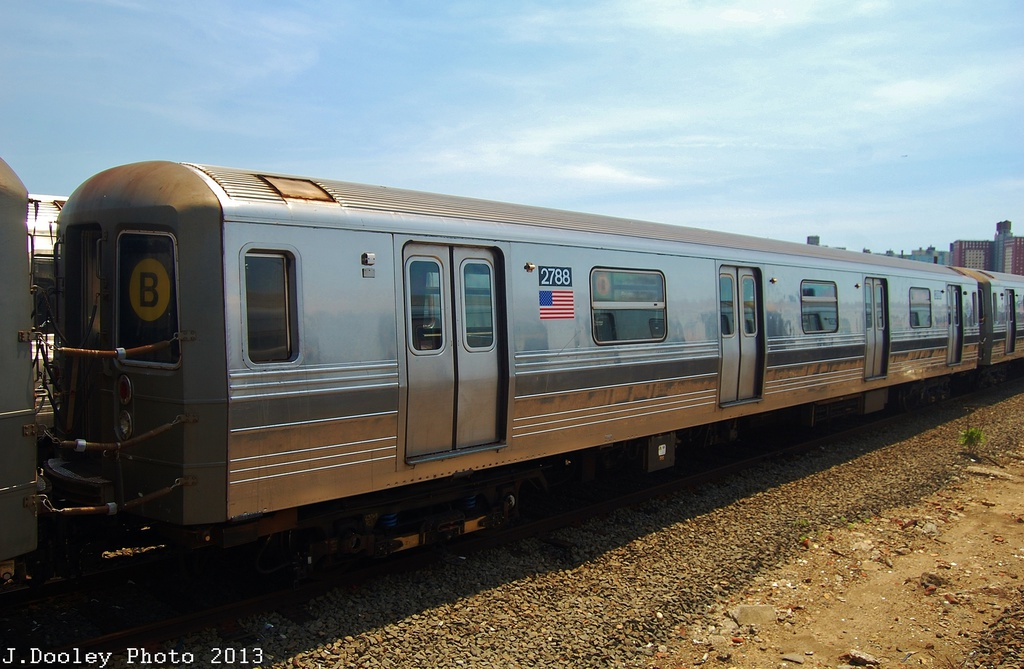 (301k, 1024x669)<br><b>Country:</b> United States<br><b>City:</b> New York<br><b>System:</b> New York City Transit<br><b>Location:</b> Coney Island Yard<br><b>Car:</b> R-68 (Westinghouse-Amrail, 1986-1988)  2788 <br><b>Photo by:</b> John Dooley<br><b>Date:</b> 6/22/2013<br><b>Viewed (this week/total):</b> 1 / 696