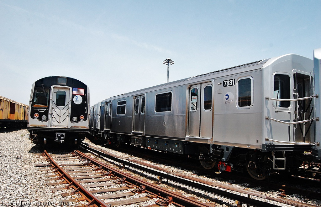 (336k, 1024x662)<br><b>Country:</b> United States<br><b>City:</b> New York<br><b>System:</b> New York City Transit<br><b>Location:</b> Coney Island Yard<br><b>Car:</b> R-188 (Kawasaki, 2012-) 7831 <br><b>Photo by:</b> John Dooley<br><b>Date:</b> 6/22/2013<br><b>Viewed (this week/total):</b> 2 / 951