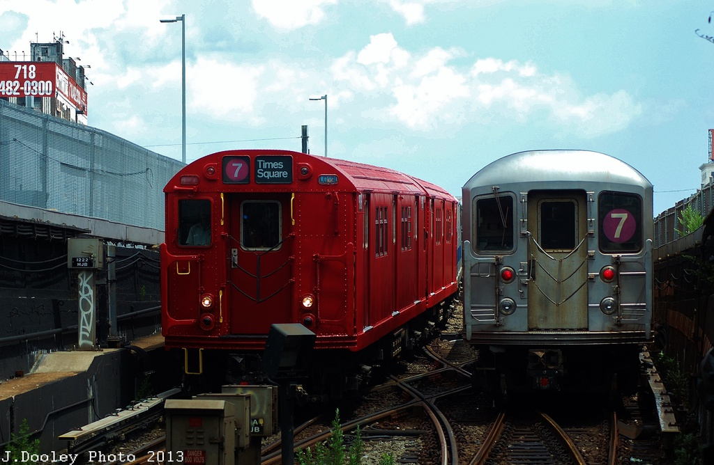 (301k, 1024x668)<br><b>Country:</b> United States<br><b>City:</b> New York<br><b>System:</b> New York City Transit<br><b>Line:</b> IRT Flushing Line<br><b>Location:</b> Hunterspoint Avenue <br><b>Route:</b> Museum Train Service<br><b>Car:</b> R-33 Main Line (St. Louis, 1962-63) 9016 <br><b>Photo by:</b> John Dooley<br><b>Date:</b> 7/14/2013<br><b>Viewed (this week/total):</b> 2 / 553