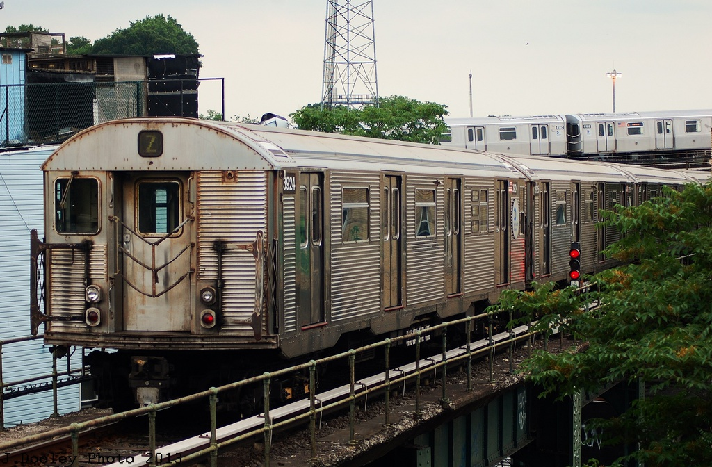 (357k, 1024x672)<br><b>Country:</b> United States<br><b>City:</b> New York<br><b>System:</b> New York City Transit<br><b>Location:</b> East New York Yard/Shops<br><b>Route:</b> J<br><b>Car:</b> R-32 (Budd, 1964)  3924 <br><b>Photo by:</b> John Dooley<br><b>Date:</b> 6/26/2013<br><b>Viewed (this week/total):</b> 4 / 302