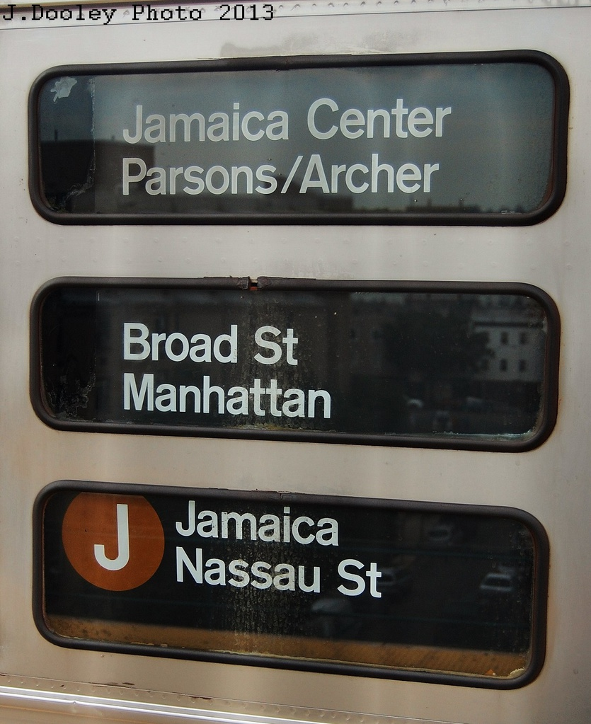 (313k, 835x1023)<br><b>Country:</b> United States<br><b>City:</b> New York<br><b>System:</b> New York City Transit<br><b>Line:</b> BMT Nassau Street/Jamaica Line<br><b>Location:</b> Alabama Avenue <br><b>Route:</b> J<br><b>Car:</b> R-32 (Budd, 1964)   <br><b>Photo by:</b> John Dooley<br><b>Date:</b> 6/26/2013<br><b>Viewed (this week/total):</b> 4 / 1041
