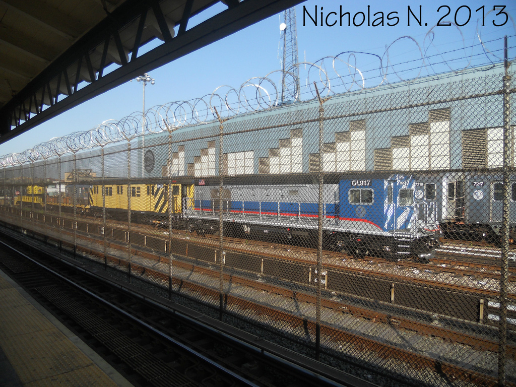 (502k, 1024x768)<br><b>Country:</b> United States<br><b>City:</b> New York<br><b>System:</b> New York City Transit<br><b>Location:</b> East 180th Street Yard<br><b>Car:</b> R-156 Diesel-Electric Locomotive (MPI, 2012-2013) 917 <br><b>Photo by:</b> Nicholas Noel<br><b>Date:</b> 6/2013<br><b>Viewed (this week/total):</b> 3 / 221