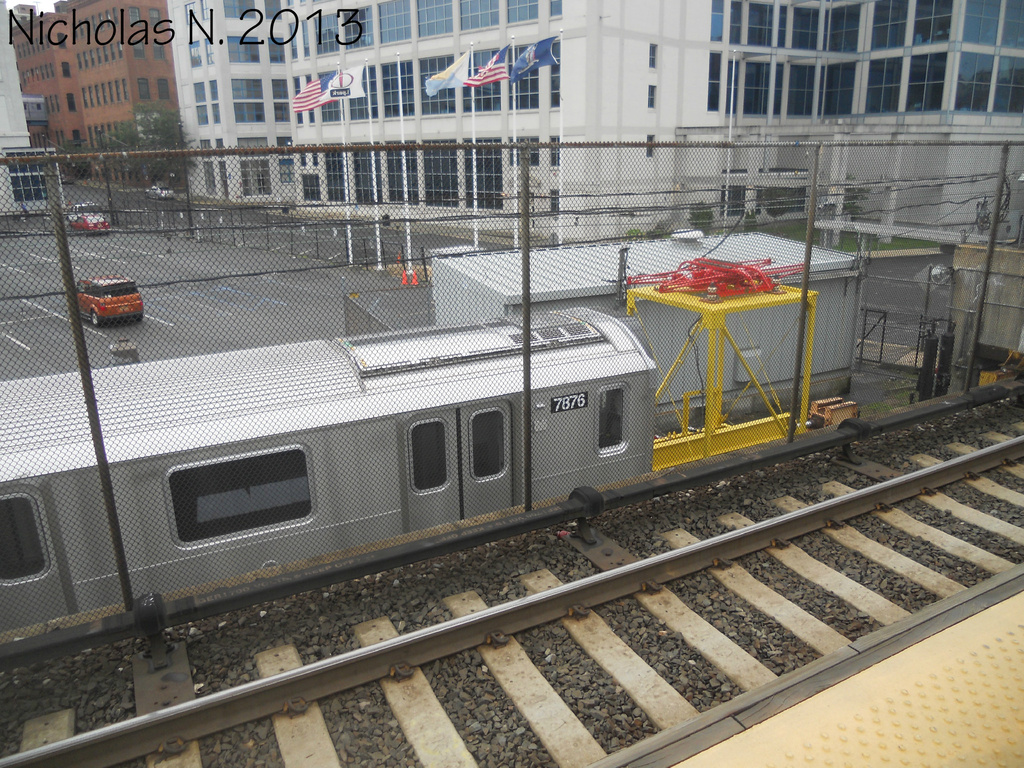 (485k, 1024x768)<br><b>System:</b> New York City Transit<br><b>Location:</b> Kawasaki Plant, Yonkers, NY<br><b>Car:</b> R-188 (Kawasaki, 2012-) 7876 <br><b>Photo by:</b> Nicholas Noel<br><b>Date:</b> 8/2013<br><b>Viewed (this week/total):</b> 3 / 902