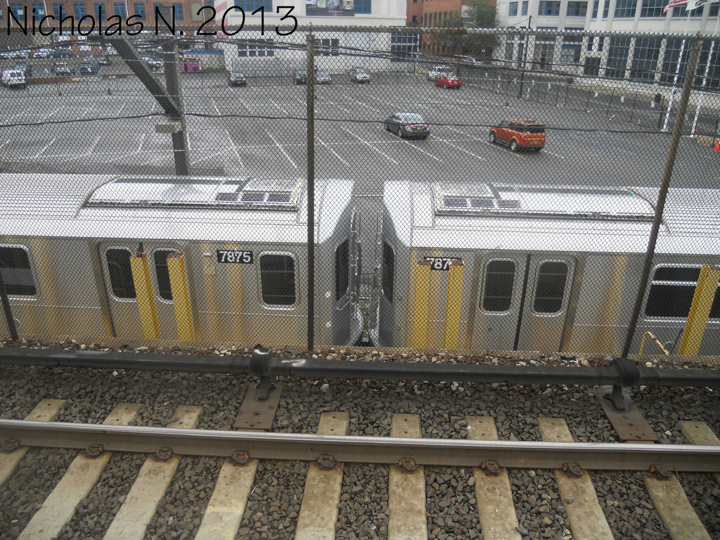 (538k, 1024x768)<br><b>System:</b> New York City Transit<br><b>Location:</b> Kawasaki Plant, Yonkers, NY<br><b>Car:</b> R-188 (Kawasaki, 2012-) 7875-7876 <br><b>Photo by:</b> Nicholas Noel<br><b>Date:</b> 8/2013<br><b>Viewed (this week/total):</b> 2 / 1047