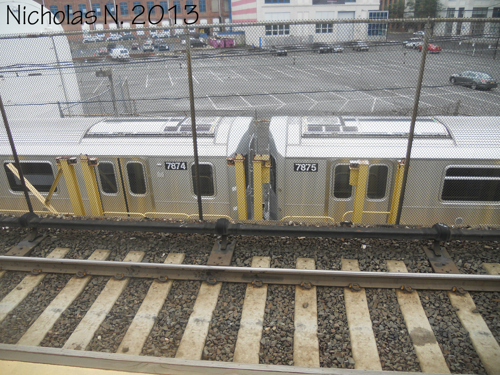(540k, 1024x768)<br><b>System:</b> New York City Transit<br><b>Location:</b> Kawasaki Plant, Yonkers, NY<br><b>Car:</b> R-188 (Kawasaki, 2012-) 7874-7875 <br><b>Photo by:</b> Nicholas Noel<br><b>Date:</b> 8/2013<br><b>Viewed (this week/total):</b> 0 / 817