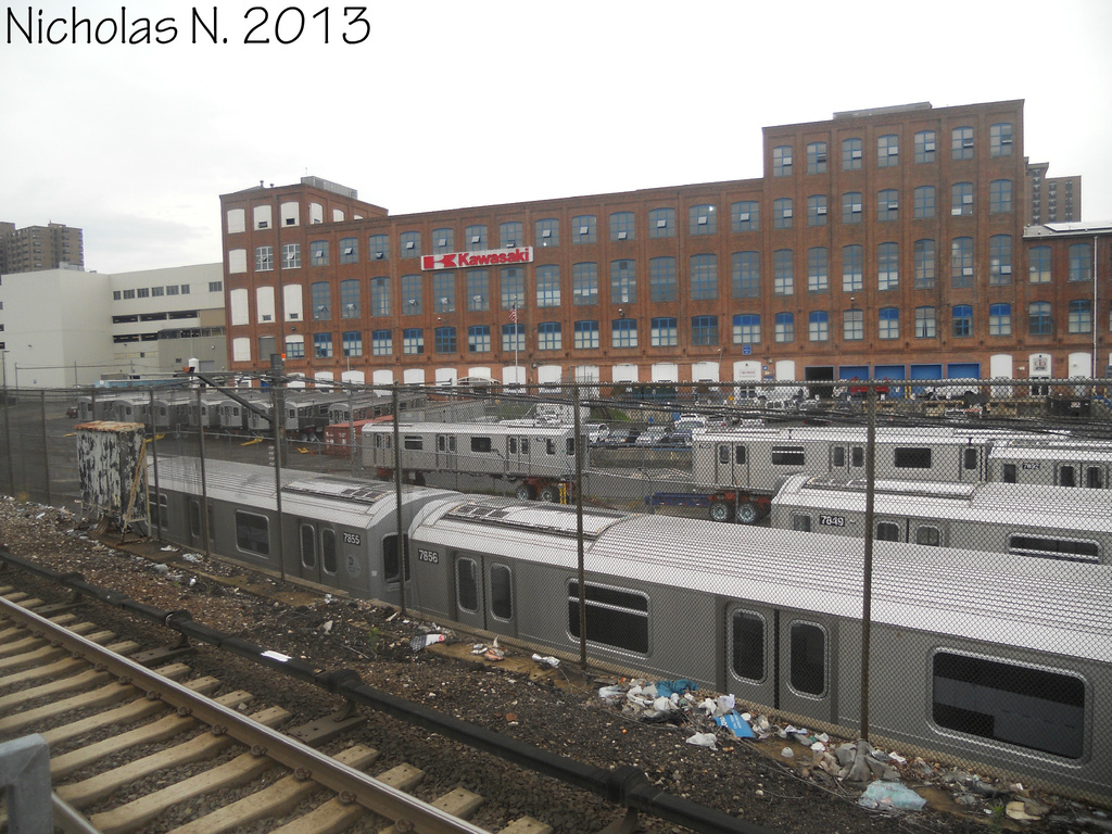 (394k, 1024x768)<br><b>System:</b> New York City Transit<br><b>Location:</b> Kawasaki Plant, Yonkers, NY<br><b>Car:</b> R-188 (Kawasaki, 2012-) 7849 etc <br><b>Photo by:</b> Nicholas Noel<br><b>Date:</b> 8/2013<br><b>Viewed (this week/total):</b> 3 / 698