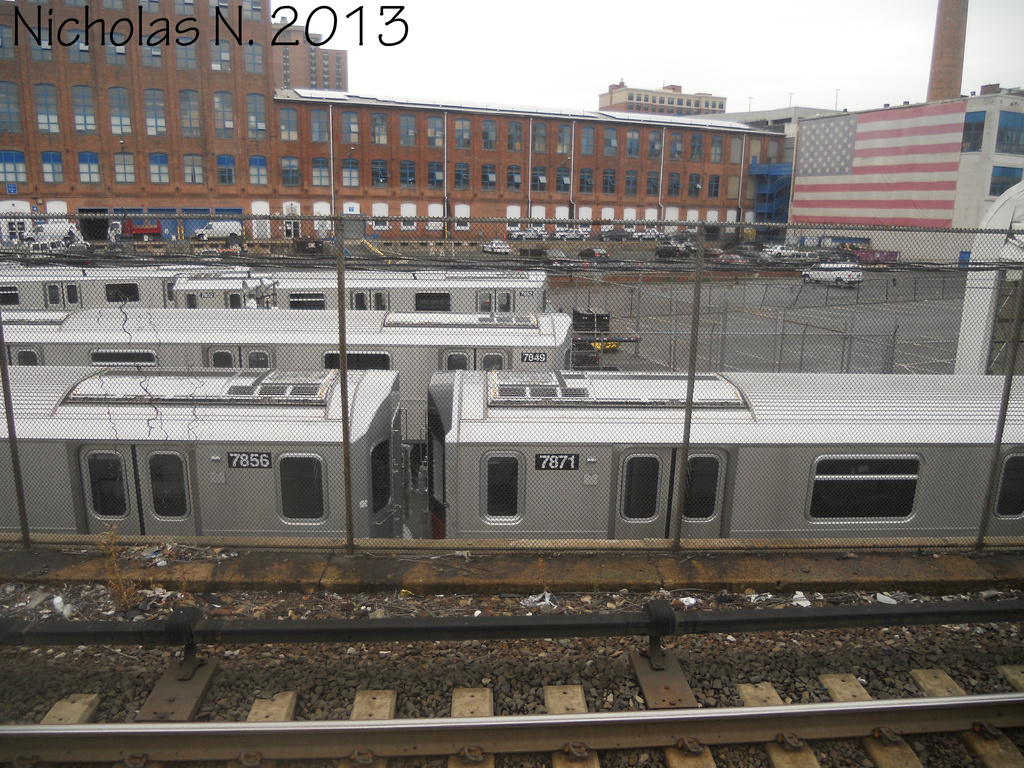 (452k, 1024x768)<br><b>System:</b> New York City Transit<br><b>Location:</b> Kawasaki Plant, Yonkers, NY<br><b>Car:</b> R-188 (Kawasaki, 2012-) 7856-7871 <br><b>Photo by:</b> Nicholas Noel<br><b>Date:</b> 8/2013<br><b>Viewed (this week/total):</b> 1 / 441