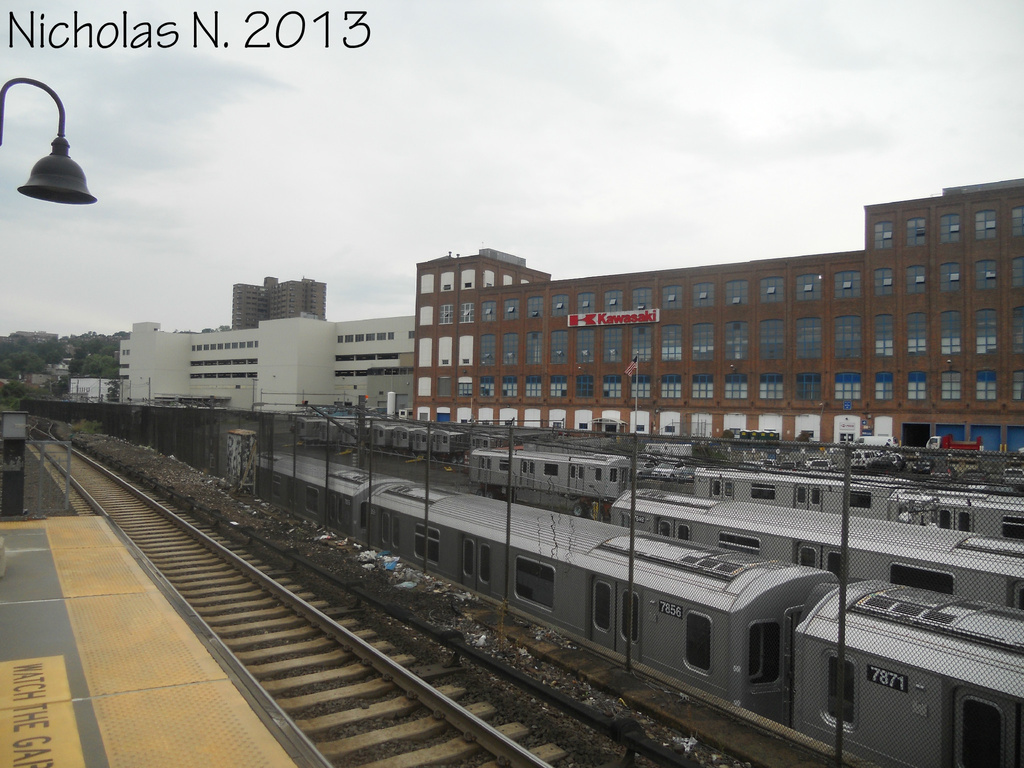(319k, 1024x768)<br><b>System:</b> New York City Transit<br><b>Location:</b> Kawasaki Plant, Yonkers, NY<br><b>Car:</b> R-188 (Kawasaki, 2012-) 7856 <br><b>Photo by:</b> Nicholas Noel<br><b>Date:</b> 8/2013<br><b>Viewed (this week/total):</b> 2 / 441