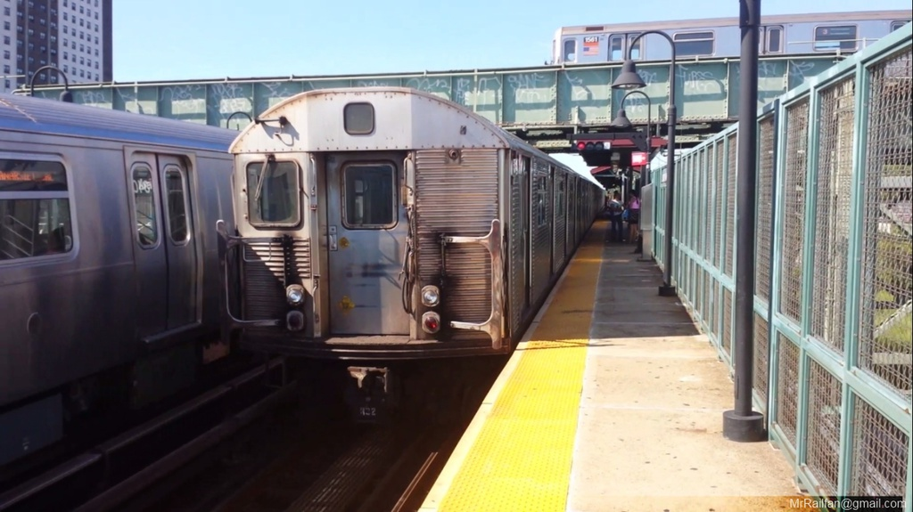 (192k, 1024x575)<br><b>Country:</b> United States<br><b>City:</b> New York<br><b>System:</b> New York City Transit<br><b>Line:</b> BMT Canarsie Line<br><b>Location:</b> Livonia Avenue <br><b>Car:</b> R-32 (Budd, 1964)   <br><b>Photo by:</b> Mr. Railfan <br><b>Date:</b> 10/23/2012<br><b>Viewed (this week/total):</b> 1 / 378