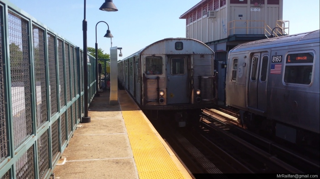(185k, 1024x575)<br><b>Country:</b> United States<br><b>City:</b> New York<br><b>System:</b> New York City Transit<br><b>Line:</b> BMT Canarsie Line<br><b>Location:</b> Livonia Avenue <br><b>Car:</b> R-32 (Budd, 1964)  3477 <br><b>Photo by:</b> Mr. Railfan <br><b>Date:</b> 10/23/2012<br><b>Viewed (this week/total):</b> 2 / 317