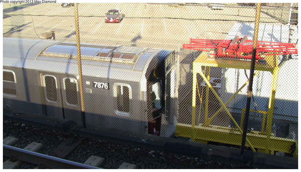 (427k, 1044x596)<br><b>System:</b> New York City Transit<br><b>Location:</b> Kawasaki Plant, Yonkers, NY<br><b>Car:</b> R-188 (Kawasaki, 2012-) 7876 <br><b>Photo by:</b> Max Diamond<br><b>Date:</b> 7/29/2013<br><b>Viewed (this week/total):</b> 0 / 499