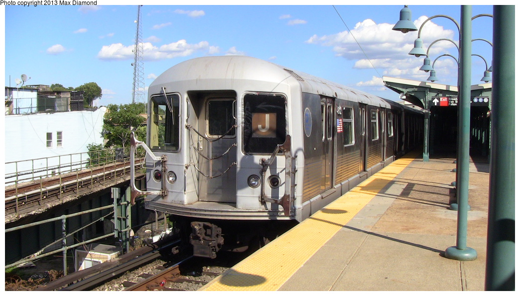 (289k, 1044x596)<br><b>Country:</b> United States<br><b>City:</b> New York<br><b>System:</b> New York City Transit<br><b>Line:</b> BMT Nassau Street/Jamaica Line<br><b>Location:</b> Broadway/East New York (Broadway Junction) <br><b>Route:</b> J<br><b>Car:</b> R-42 (St. Louis, 1969-1970)  4812 <br><b>Photo by:</b> Max Diamond<br><b>Date:</b> 8/4/2013<br><b>Viewed (this week/total):</b> 0 / 231