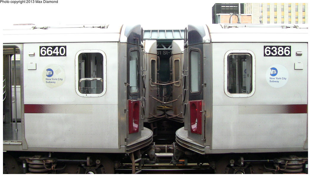 (231k, 1044x596)<br><b>Country:</b> United States<br><b>City:</b> New York<br><b>System:</b> New York City Transit<br><b>Line:</b> IRT Woodlawn Line<br><b>Location:</b> 161st Street/River Avenue (Yankee Stadium) <br><b>Route:</b> Layup<br><b>Car:</b> R-142 (Primary Order, Bombardier, 1999-2002)  6624 <br><b>Photo by:</b> Max Diamond<br><b>Date:</b> 7/25/2013<br><b>Viewed (this week/total):</b> 2 / 716