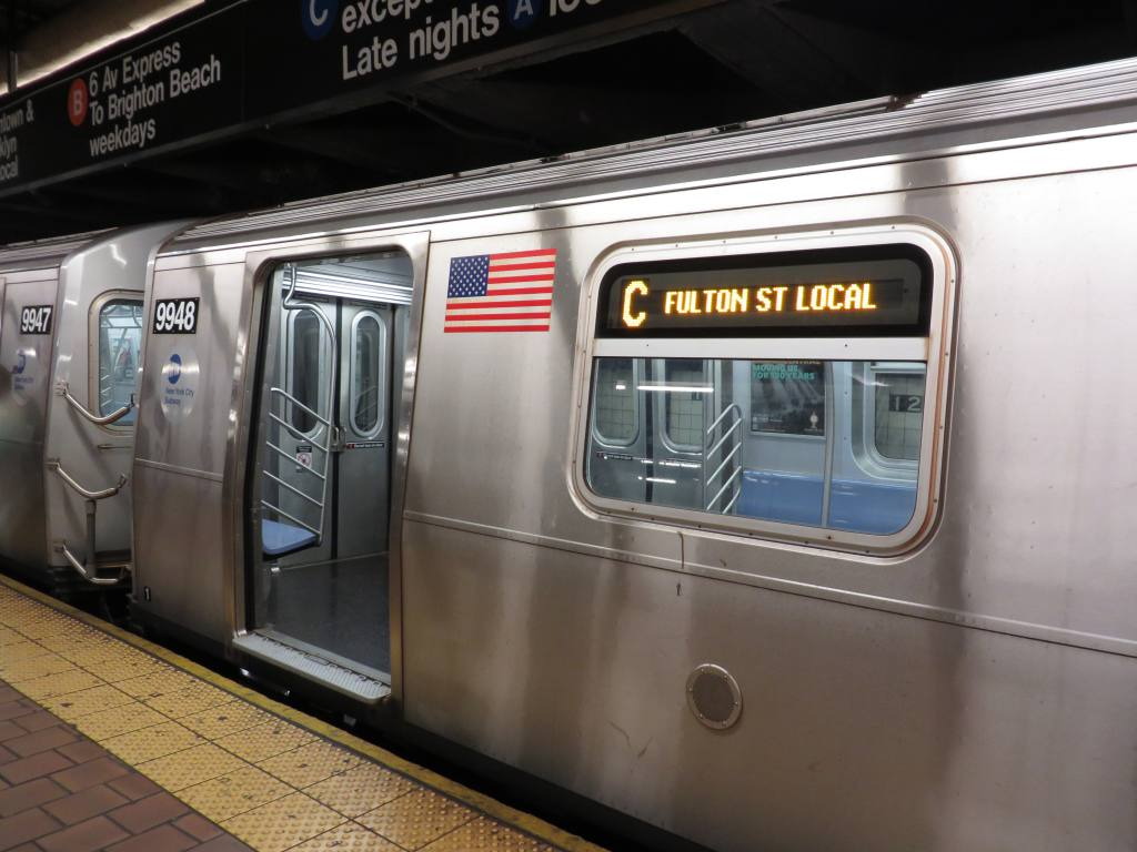 (111k, 1024x768)<br><b>Country:</b> United States<br><b>City:</b> New York<br><b>System:</b> New York City Transit<br><b>Line:</b> IND 8th Avenue Line<br><b>Location:</b> 96th Street <br><b>Route:</b> C<br><b>Car:</b> R-160A (Option 2) (Alstom, 2009, 4-car sets)  9948 <br><b>Photo by:</b> Robbie Rosenfeld<br><b>Date:</b> 7/3/2013<br><b>Viewed (this week/total):</b> 0 / 1895