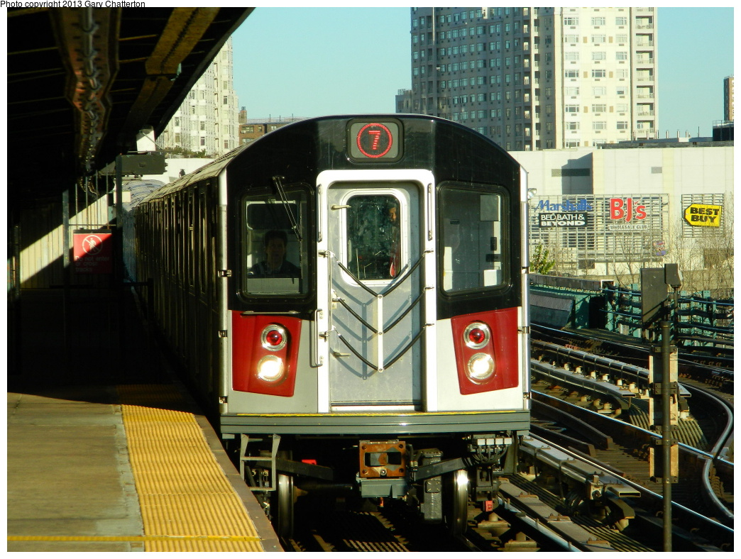 (379k, 1044x788)<br><b>Country:</b> United States<br><b>City:</b> New York<br><b>System:</b> New York City Transit<br><b>Line:</b> IRT Flushing Line<br><b>Location:</b> Willets Point/Mets (fmr. Shea Stadium) <br><b>Route:</b> 7<br><b>Car:</b> R-188 (Kawasaki, 2012-) 7811 <br><b>Photo by:</b> Gary Chatterton<br><b>Date:</b> 11/20/2013<br><b>Viewed (this week/total):</b> 5 / 1782